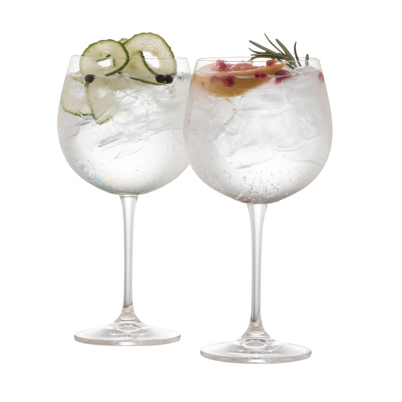 Galway Clarity Gin and Tonic Glass Pair